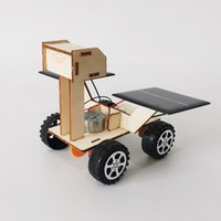 Wholesale robot paper resale online - Students science technology small scale production of solar lunar rover robot diy handmade materials science experimental toys
