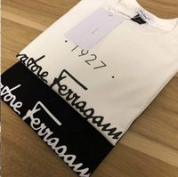 Wholesale korean men spring fashion resale online - 2020 spring and summer new European English FL printed round neck cotton T shirt men and women loose Korean designer short sleeved couples t