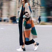 Wholesale organic wool flannel for sale - Group buy Fashion Womens Winter sweater Thick warm designer woolen coat design X long wool blend Faux Outerwear Windbreaker Teddy Fleece casual jacket
