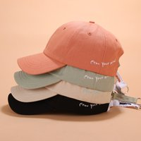 Wholesale korean letter rings resale online - QYznn Korean iron ring Sunscreen Baseball baseball cap men s and women s Korean style side letter embroidery cap students summer outdoor sun