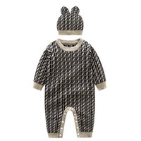Wholesale knitting baby clothes boys resale online - 2 piece Newborn baby Boy baby romper knitted clothes baby jumpsuit autumn newborn romper outer autumn and winter sweater sweater suit