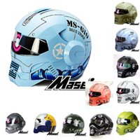 Wholesale ironman helmet for sale - Group buy MASEI IRONMAN motorcycle helmet Colours Casque motocross half helmet Personality open face Trend Cycle Race