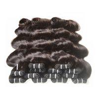 Wholesale processed human hair for sale - Group buy brazilian body wave non remy human hair bundles weaves kg bundles natural black color human hair can change color