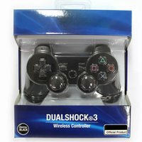 Wholesale Dualshock Wireless Bluetooth Controller for PS3 Vibration Joystick Gamepad Game Controllers With Retail Bo