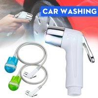 Wholesale water pumps car wash resale online - Car Washer Cleaner Washing Sprayer Portable USB Rechargeable Home Bath Outdoor Camping Travel Caravan Van Shower Set Water Pump