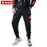 Wholesale hot hip dance resale online - New Streetwear Sweatpants Hole Hollow Hip Hop Joggers Pants Men Harlan style hot sale Street dance pants Gothic casual