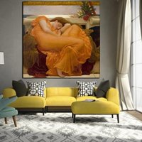 Wholesale nude women painting art resale online - Retro Sleeping Women Canvas Oil Painting Realistic Classical Posters Prints Wall Art Nude Art Picture for Living Room Home Decoration