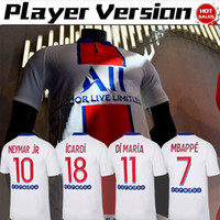 Wholesale football player jerseys for sale - Group buy Player version Paris shirt away MBAPPE ICARDI Soccer Jerseys Men NEYMAR JR VERRATTI Soccer Shirts Customized Football uniforms