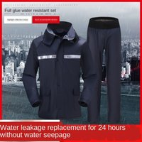 Wholesale rain pant men resale online - Raincoat and rain pants suit for men riding car thickened waterproof whole body split Battery Battery raincoat