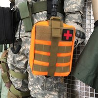 Wholesale emergency pack bag resale online - Tactical Molle Pack Outdoor Emergency Bag Travel First Aid Kits Climbing Life Saving Waist Pack D Waterproof Bag