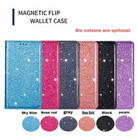 Wholesale flip power case for sale – best Glitter power Leather Phone Magnetic Flip Stand Cover Case for Samsung Note20 plus A51 A71 G A11 A21 A21S A31 A70E