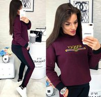 Wholesale tracksuit set sport woman resale online - 2020 Women Clothes Two Piece Sets piece set womens sweat suits Plus Size Jogging Sport Suit Soft Long Sleeve Tracksuit Sportswear
