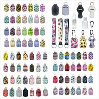 Wholesale customized keychains for sale - Group buy 163 Styles Customize Neoprene Hand Sanitizer Bottle Holder Keychain Bags ml Hand Sanitizer Bottle Chapstick Holder With Baseball Keychains