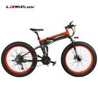 Wholesale full tires resale online - T750Plus W Electric Mountain Bike Speed Snow Bike Vouwen Ebike Citybike Roadbike PAS Full Suspension Fat Tire