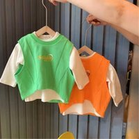 Wholesale korean sweater fashion boys resale online - Ws1oI Fashion Korean style clothing boys Vest children s clothingand girls autumn style children s fashionable baby s sweater vest T sh