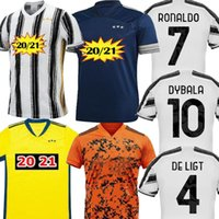 Wholesale blue ronaldo resale online - Size S XL DYBALA C RONALDO Home Blue Orange Mens soccer jersey D COSTA De Ligt Cuadrado DYBALA Jersey football shirts uniforms