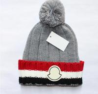 Wholesale mens beanies resale online - New France fashion mens designers hats bonnet winter beanie knitted wool hat plus velvet cap skullies Thicker mask Fringe beanies hats man