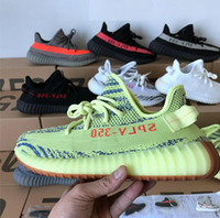 Wholesale training shoes toes resale online - 2019s V2 Kanye West s Triple white Bred Butter Teach Red Men Women Green Core Zebra Sports SPLY Training Sneakers