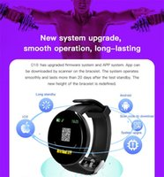 Wholesale the apple watch for sale - Group buy D18 round color screen smart wristband watch sports pedometer sleep monitoring and support the function of the heart rate