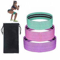 Wholesale resistance bands for men resale online - Resistance Bands Set Exercise Fitness Loop Band Fabric Elastic Workout Hip Circle for Men Women Strength Training Yoga Pilates EPCH