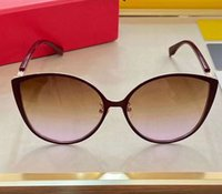 Wholesale golden cat s eye for sale - Group buy Brown Gold Brown Violet Gradient Sunglasses S Cat Eye Frame gafas de sol de women sunglasses Shades New with box