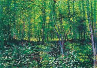 Wholesale oil paintings trees for sale - Group buy Trees and Undergrowth Van Gogh Home Decor Handpainted HD Print Oil Painting On Canvas Wall Art Canvas Pictures