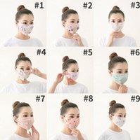 Wholesale mesh face mask for sale - Group buy Chiffon Mouth Masks Floral Printed Flowers Masks Designer Respirator Women Summer Sport Double Washed Meshed Face Mask Dustproof LSK240
