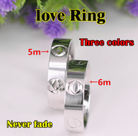 Wholesale titanium rings resale online - Titanium Steel Wedding lovers Ring for women Zirconia Engagement Rings men jewelry Gifts Fashion Accessories