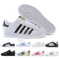 ingrosso scarpe adidas uomo-Adidas 2018 NEW Originals Superstar White Hologram Iridescent Junior Superstars 80s Pride Sneakers Super Star Donna Uomo Sport Scarpe da corsa 36-44