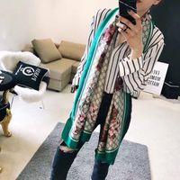 Wholesale quality pashmina shawls resale online - 2020 High quality Women Scarf Silk floral Print Scarves Women Letter Thin Design woman Shawls Size cm Without box A11001