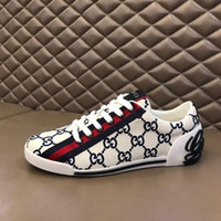 Wholesale mixed size shoes for sale - Group buy high quality Luxe Men Vintage Low top Printed Sneaker Designer Mesh slip on Running Casual Shoes Lady Fashion Mixed Breathable Trainers