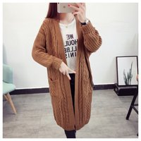 Wholesale coats low prices resale online - UWpyQ Winter knitted thick cardigan Mid length low price Winter Coat sweater Women s knitted thick cardigan Women s Mid length coat sweater