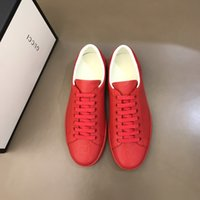 Wholesale discount mens leather casual shoes resale online - Women Casual Shoes Low Top Luxury Designer Leather Sneakers with Flower Trainers Discount Snake Tiger Mens Flats Shoes ACE Bee Embroide R549