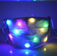 Wholesale led rainbow light bar resale online - LED Luminous Face Mask Adult Night Light Masks Rainbow Colorful Lights Bulbs Change Nightclub Bar Dinner Masks Protective Cover D72108