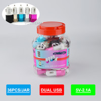 Wholesale car frame iphone for sale – best 2 A mA dual usb car charger in plastic jar with aluminium frame double usb charger for ipad iphone samsung samartphone in high quality