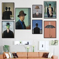 Wholesale artists paint animals resale online - Magritte Artist Surrealist Painting Print On Canvas Abstract Wall Art Picture For Living Room Home Decoration Posters And Prints