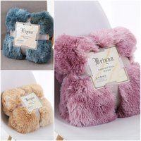Wholesale textile blankets for sale - Group buy New Pattern Baby Blankets Simplicity Throw Blanket Home Textiles Soft Long Shaggy Warm Bedding Article Four Seasons ly D2