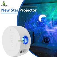 Wholesale star laser night light resale online - Star Light Projector USB Rechargeable Starry Sky Ocean Waving Night Light Projector Sound Activated Music Laser Light Projector