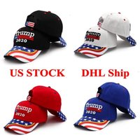 Wholesale black snapbacks stars resale online - US STOCK Donald Trump Baseball Cap Snapbacks Make America Great Again Hat Star Stripe USA Flag Camouflage Sports Outdoor Cap FY6080