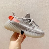 Wholesale toddler lighting shoes for sale - Group buy Infant M Reflective Cinder Linen lundmark Kids Running Shoes Earth Tail Light Tailgate Zyon Kanye West Baby Sneakes Small Boy Girl Toddlers