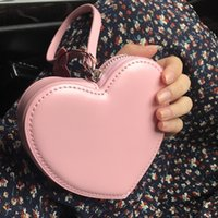 billetera corazones al por mayor-PU leather cute creative heart-shaped small PU leather coin purse cute creative heart-shaped coin purse wallet small wallet