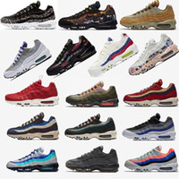 Wholesale 95 max resale online - 2020 OG Fuchsia Red Orbit Bred Aqua Neon Mens Womens maxes White Blue Classic Black Sneakers quality Tennis Sports Casual shoes Gco3