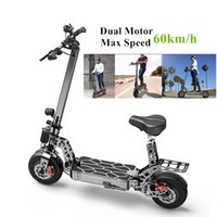 Wholesale off road tires resale online - New Improved Dual Motor Electric Scooter V Ah W Fat Tire Inch Electric Powerful Scooter With km h Driven Off Road