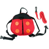 Wholesale ladybug backpacks resale online - School Bags ISKYBOB Walking Safety Backpack Harness Reins Toddler Bag For Kids Children Ladybug Drop Shipping