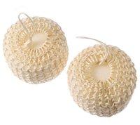 Wholesale cellulite brushes resale online - Sisal Sponges Bath Sponges Cellulite Circulation SPA Massage Shower Body Brush Wet or Dry Brushing Sisal Bath Ball