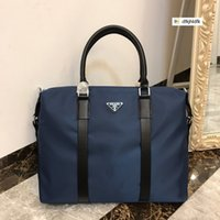 Wholesale men shoulder bag cloth resale online - Imported waterproof nylon cloth Men Handbag Top Handles Shoulder Bags Crossbody Belt Boston Bags Totes Mini Bag Clutches Exotics