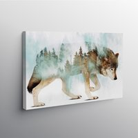 Wholesale canvas painting wolves resale online - Modular Pictures Wolf Canvas Painting Wall Art Forest Posters Wild Animals Print Modern Vintage Living Room Home Decor No Frame