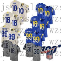 Wholesale todd gurley resale online - Men Cheap Ramsey Todd Gurley Jared Goff Aaron Donald Mens Football Stitched Jerseys