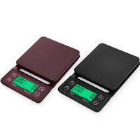 Wholesale electronic 5kg for sale - Group buy Drip Coffee Scale With Timer Portable Electronic Digital Kitchen Scales High Precision kg g kg g JK2005KD