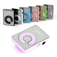 Wholesale mini clip mp3 player without screen resale online - MP3 Player Mirror Clip USB Sport Support micro TF Card Music Media Player mini clip without Screen